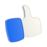 Thumb up like glossy plastic icon isolated Stock Photos