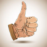 Thumb up like hand. Royalty Free Stock Images