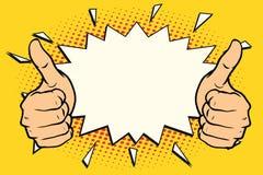 Thumb up like. Pop art retro vector illustration royalty free illustration