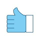 Thumb up like symbol Royalty Free Stock Photography