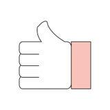 Thumb up like symbol Royalty Free Stock Photo