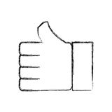 Thumb up like symbol. Icon vector illustration graphic design Stock Photo