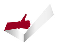 Thumb Up Like It Tick Illustration Stock Photo