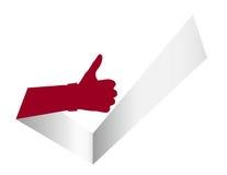 Thumb Up Like It Tick Illustration Stock Photo