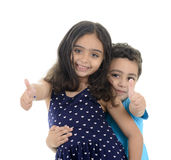 Thumb Up Little Boy and Girl Royalty Free Stock Photo