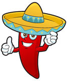 Thumb up mexican chili Royalty Free Stock Images
