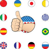 Thumb up nations Royalty Free Stock Photo