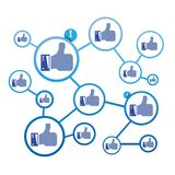 Thumb up network Stock Images