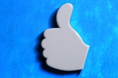 Thumb up okay sign Stock Images