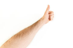 Thumb up point of view Royalty Free Stock Photography