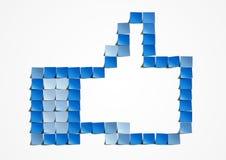 Thumb up post-it art Royalty Free Stock Image