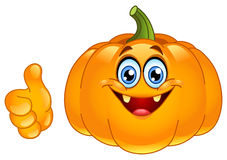 Thumb up pumpkin Royalty Free Stock Photography
