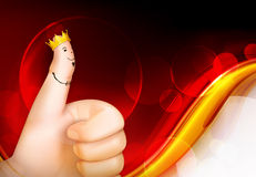 Thumb up red background Royalty Free Stock Image