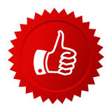 Thumb up red vector star Stock Photos