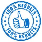 Thumb up results vector stamp stock illustration