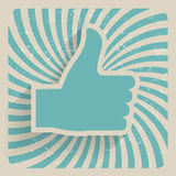 Thumb Up Retro Grunge Symbol Vector Illustration Royalty Free Stock Photography