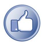 Thumb up round button Stock Photos