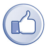Thumb up round button Royalty Free Stock Photos