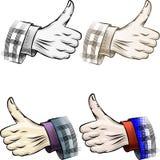 Thumb up set Royalty Free Stock Photo