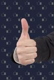 Thumb up sign. Hand showing thumb up sign Stock Image
