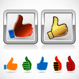 Thumb Up Sign - High Quality Symbol Stock Photo