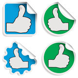 Thumb up stickers Royalty Free Stock Photography