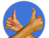 Thumb up - success Stock Photos