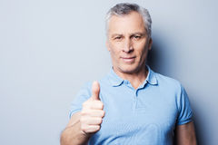 Thumb up for success! Royalty Free Stock Image
