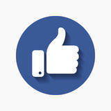 Thumb up symbol, finger up icon vector illustration. Like hand sign Stock Photography
