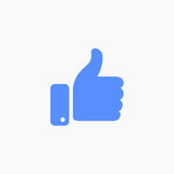 Thumb up symbol, finger up icon vector illustration. Like hand sign Royalty Free Stock Image