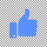 Thumb up symbol, finger up icon vector illustration. Like hand sign Royalty Free Stock Photography