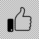Thumb up symbol, finger up icon vector illustration. Like hand sign Stock Images
