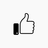 Thumb up symbol, finger up icon vector illustration. Like hand sign Stock Image