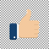 Thumb up symbol, finger up icon vector illustration. Like hand sign Stock Photo