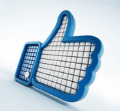 Thumb up symbol Royalty Free Stock Photos
