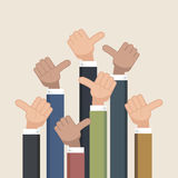 Thumb up symbol. Like symbol. Vector illustration,eps 10 royalty free illustration