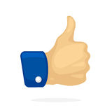 Thumb up symbol of like Royalty Free Stock Image