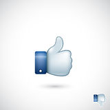Thumb up symbol - vector illustration Stock Image