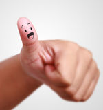 Thumb up symboll of success Stock Images