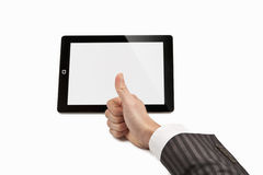 Thumb Up on Tablet Computer Royalty Free Stock Photo
