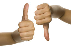 Thumb Up And Thumb Down Stock Photos
