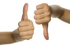 Thumb Up And Thumb Down Stock Photos