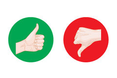 Thumb up thumb down round icons Royalty Free Stock Photos
