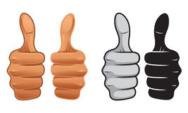 Thumb Up. 4 thumbs up style illustration Stock Image