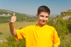 Thumb up trip Royalty Free Stock Image