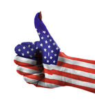 Thumb up for USA Stock Photos