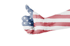 Thumb up for USA Stock Photo