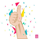 Thumb up. Vector thumb up colorful illustration royalty free illustration