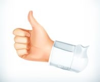 Thumb up vector icon. Thumb up, vector icon, isolated on white background vector illustration