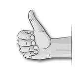 Thumb up and well done Stock Photo